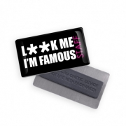 BADGE AIMANT FORME RECTANGLE