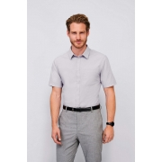 CHEMISE HOMME POPELINE MANCHES COURTES