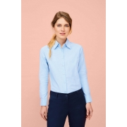 CHEMISE FEMME OXFORD MANCHES LONGUES