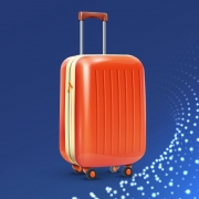 Trolley and suitcases