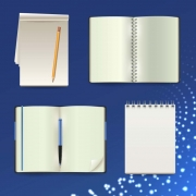 Stationery, notebooks, diaries, notepads and calendars